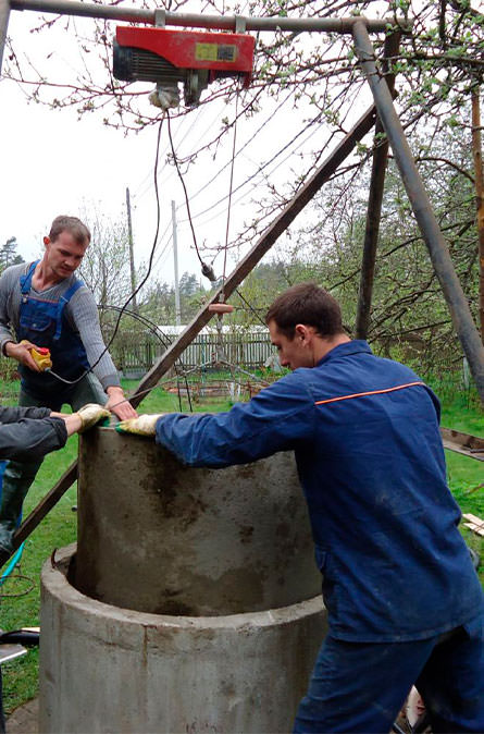 Как мы углубляем колодец в Алексинском районе
