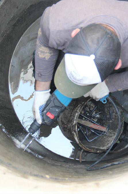 Как мы выполняем ремонт колодцев в Алексинском районе